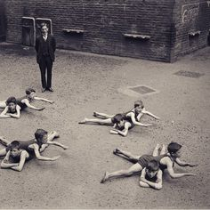 Kids learning to swim in a schoolyard in 1920's England regram from @gokayyalin Great find!
