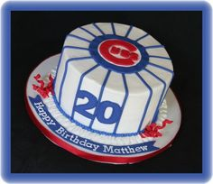 Possible Birthday Cake. Baseball Theme Cakes, Baseball Birthday Party, My Birthday Cake, Dad Birthday, Chicago Cubs Cake, Chicago Chicago, Cubs Pictures, Cubs Pics, 21st Bday Ideas