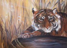 Tiger - Acryl auf Leinwand