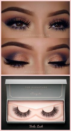 The Magic of False Eyelashes | #ESQIDO Voila Lash  #purple #peach #gold