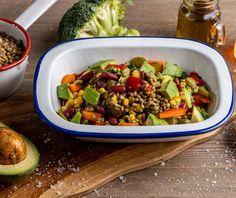 Φακές σαλάτα | Συνταγή | Argiro.gr - Argiro Barbarigou Diet Recipes, Vegan Recipes, Cooking Recipes, Vegan Food, Delicious Recipes, Canapes Recipes, Good Food, Yummy Food, Kung Pao Chicken