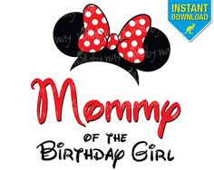 Disney MOMMY of the Birthday Girl Minnie Ears by TheWallabyWay