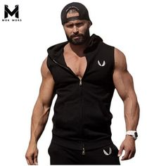 Hot 2017 Mens Cotton Hoodie Sweatshirts fitness clothes bodybuilding tank top men Sleeveless Trend Tees Shirt Casual golds vest