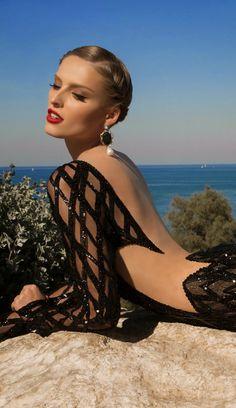 Sexy collection of black evening dresses from Galia Lahav – Moonstruck 2014 Evening Dress Long, Black Evening Dresses, Evening Gowns, Club Dresses, Dance Dresses, Sexy Dresses, Prom Dresses, Glamour, Fashion Diva Design