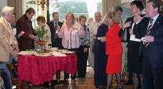 Guests at the home of Dr. Joseph Polizzi during the reception for the Treviso delegation in February 2007