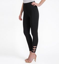 b15f46c49c1 Lysse Leggings 1590 Twist Ankle Legging (Black M)