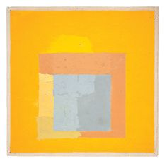 Colour study for homage to the square, platinum | Josef Albers
