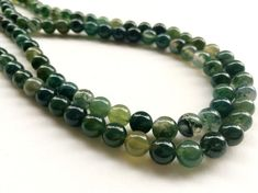 Green Moss Agate Beads Natural Moss Agate Smooth by gemsforjewels
