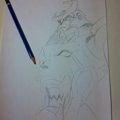 Quick Gurren Lagann sketch. I really enjoyed picking up a pencil again. - @noritoy- #webstagram