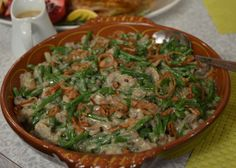 The Perfect Green Bean Casserole for Thanksgiving: Bethany Frankel healthy version Thanksgiving Recipes, Holiday Recipes, Holiday Ideas, Cooking Recipes, Healthy Recipes, Yummy Recipes, Healthy Foods, Recipies, Skinny Girl Recipes