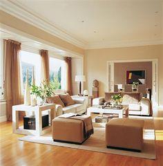 Tapeten Wohnzimmer Beige