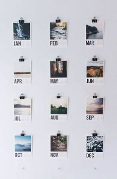 Tumblr Polaroid mini calendars... do this with you and your significant other each month together