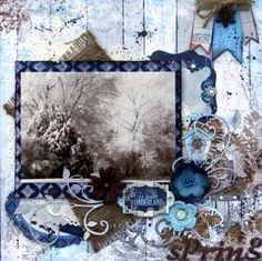 Spring layout ~ Scrapbooking Inspiration ~ ♥ #scrapbooking #crafts #diy