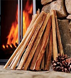 fatwood for starting fires in the fireplace. . .