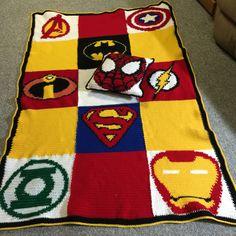 Superhero crocheted blanket