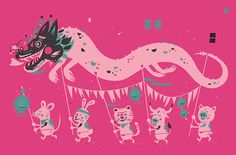 Year of the Dragon print by Little Friends of Printmaking