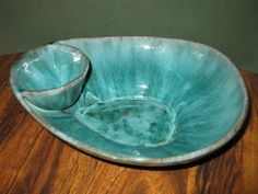Blue Mountain Pottery Chips & Dip Bowl