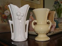 Vintage Pottery Vases by TheDownstairsAttic on Etsy