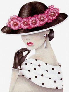 Дама в шляпке, предпросмотр