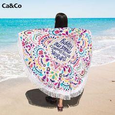 Round Beach Towel Sunshine on  My Shoulder