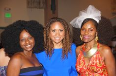 Kimberly,Tracie Thoms of the film RENT and I take a pic after the screening of my daughters film Sweet Honey Chile'...