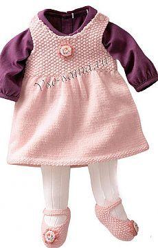 Платье и башмачки - Платья, сарафаны спицами для малышей