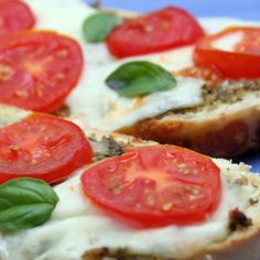 A recipe for a warm gooey Cheese Basil and Fresh Tomato Bruschetta. Cheese Basil and Fresh Tomato Bruschetta Recipe from Grandmothers Kitchen. Follow us on Pinterest.