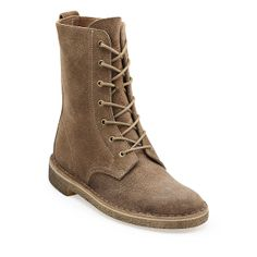 Desert Mali-Women in Taupe Distressed Suede - Womens Boots from Clarks