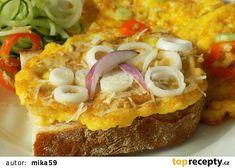 Vaječný řízek s květákem recept - TopRecepty.cz Baked Potato, French Toast, Sandwiches, Pizza, Recipies, Food And Drink, Appetizers, Low Carb, Cooking Recipes