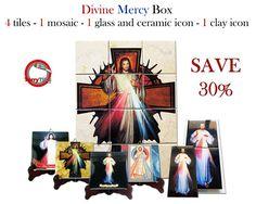 Guarda questo articolo nel mio negozio Etsy https://www.etsy.com/it/listing/512340616/divine-mercy-jesus-box-with-4-tiles-1