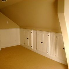 Attic storage- we are putting something similar to this in our roof Martin