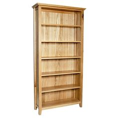 Hereford Rustic Solid Oak Bookcase (Size  3Ft X 2Ft, 4Ft6 X 2Ft, 6Ft X 2Ft, 5Ft X 3Ft) - 6ft x 3ft - Bookcase - Ametis - Space & Shape - 4