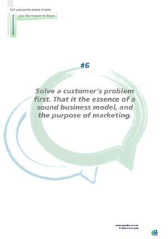 No 6 Solve a customer problem