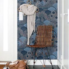 Repost from @callithomeblog who has the wallpaper Mårdgömma in the hallway