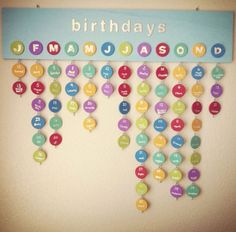 family birthday reminder board sign | Custom Family Calendar Birthday Reminder made to by wright4design