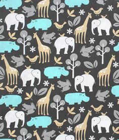 Michael Miller Zoology Sea Fabric - $9.2 | onlinefabricstore.net  #baby #nursery #gifts