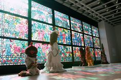 exclusive film spotlights raúl de nieves' 'stained glass' mural for the whitney biennial