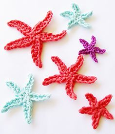 Tiny Star Fish is a fun little applique that can be made bigger, I used mine for mermaid party favor bags.