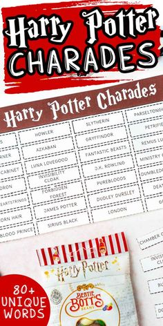 This Harry Potter charades game is perfect for a Harry Potter birthday party, Harry Potter movie night, or celebrating Harry Potter's birthday!