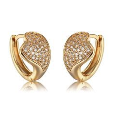 Richapex Gold Plated Brass Earrings Cubic Zirconia Inlaid Heart Hoop Earrings Nice of you to drop by to view the image. (This is an affiliate link) Sterling Silver Hoops, Silver Hoop Earrings, Jewelry Sets, Fine Jewelry, Designer Earrings, 18k Gold, Jewelry Design, Fashion Jewelry, Jewels