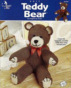 Teddy Bear Knit Pattern Book Annies Attic by grammysyarngarden, $4.00