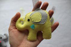 felt elephant ornament