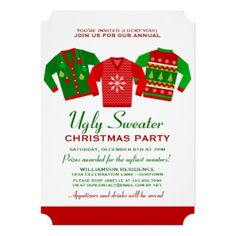 rock ugly sweaters holiday party invitation uglysweaterparty advertisement 24 365 pinterest - Ugly Sweater Party Invitation