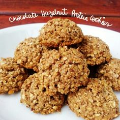 Ripped Recipes - Chocolate Hazelnut Protein Cookies - 4 Ingredient Chocolate Hazelnut Protein Cookies… because chocolate and hazelnut is an awesome combination!