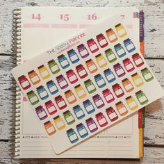 NEW! L7 52 Week Money Savings Challenge Mason Jar Stickers - set of 52
