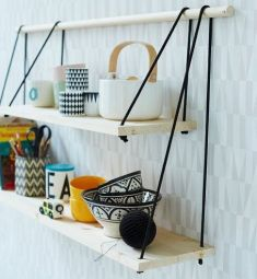 Hanging Cord Shelves