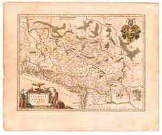 Landkarte Schlesien 1645 im Atlas des Joannis Blaeu (Silesiae ductus, Herzogtum #Schlesien) mit #Greiffenberg (Gryfów Śląski) ganz im Westen nahe #Görlitz | #Silesia #GJRfamily