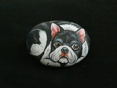 Rockpainting - Boston Terrier 0006