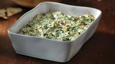 Baked Spinach and Feta Dip - This is the best spinach dip recipe I've ever tried and one of the easiest and cheapest to make! Serve with baked pita chips! This recipe is a keeper! Classic Spinach Dip Recipe, Best Spinach Dip, Spinach And Feta, Side Recipes, Greek Recipes, New Recipes, Cooking Recipes, Favorite Recipes, Yummy Recipes