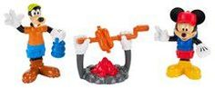 Fisher Price - Disney mickey mouse clubhouse - campfire goofy & mickey figures